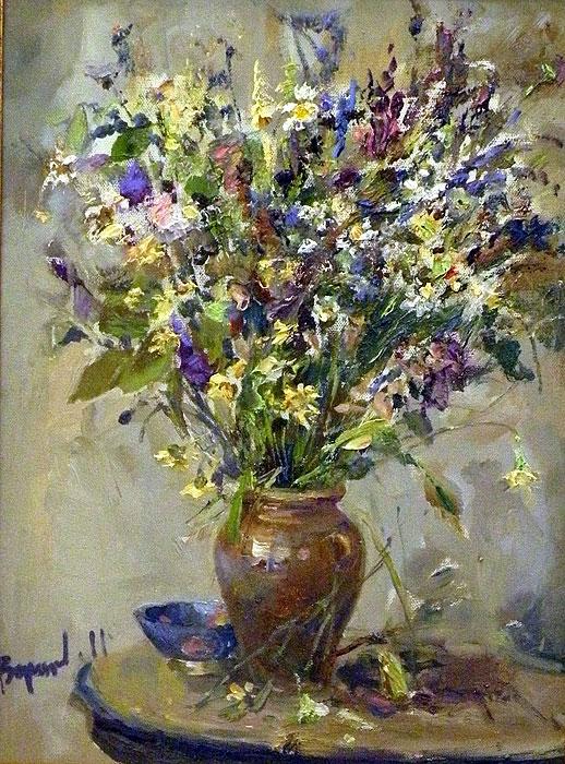 Картины маслом на холсте полевые цветы