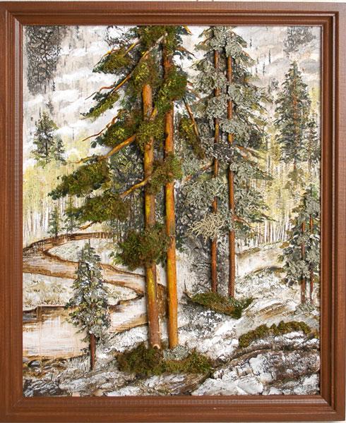 Картины панно из природного материала